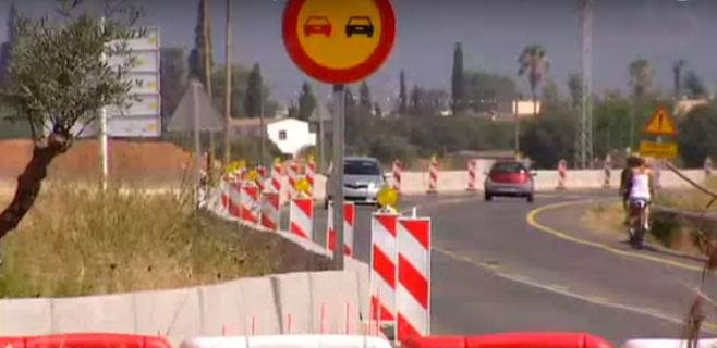 Los atascos obligan a reorganizar el desvío en la carretera Palma-Manacor