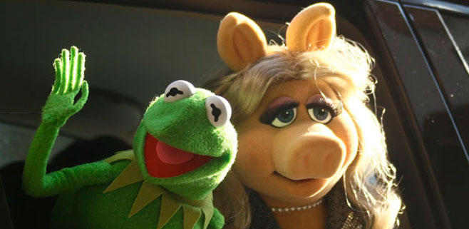 La cerdita Peggy y la rana Gustavo se separan