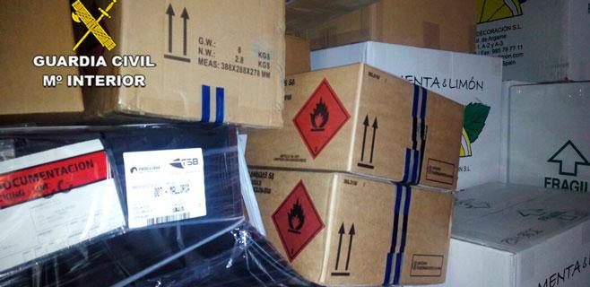 Interceptadas en el Port de Palma 4 toneladas de mercancías peligrosas