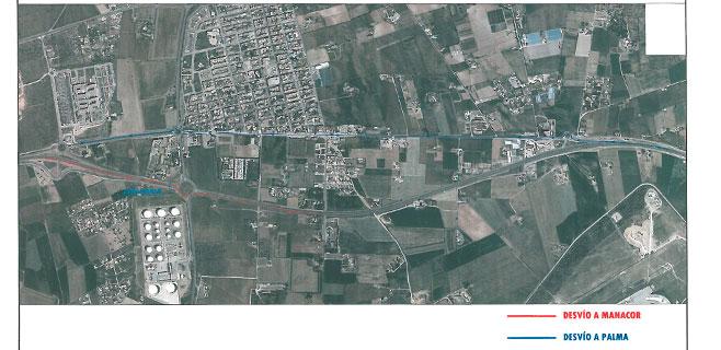 La carretera de Manacor estará cerrada esta semana en su tramo de Son Ferriol
