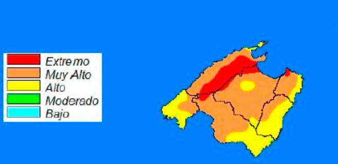 Riesgo extremo de incendio en la Serra
