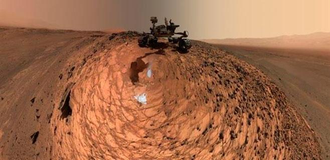 El Curiosity se hace un selfie en Marte