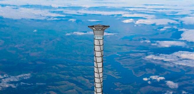 Una torre de 20 kilómetros para lanzar cohetes