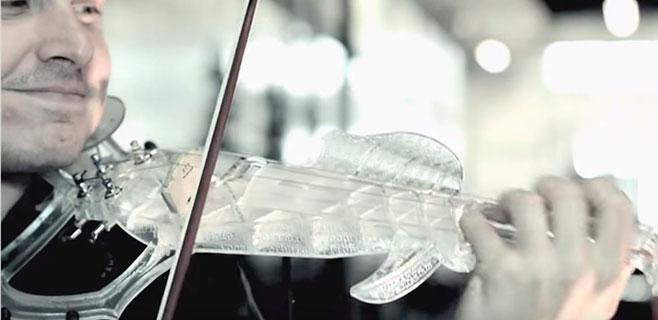 Así suena el primer violín impreso en 3D