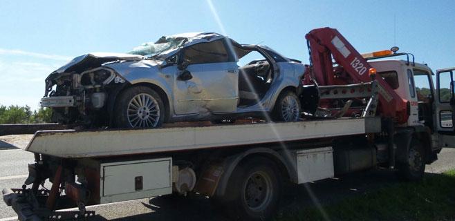 Dos heridos en un accidente de tráfico en la carretera de Inca a Alcúdia