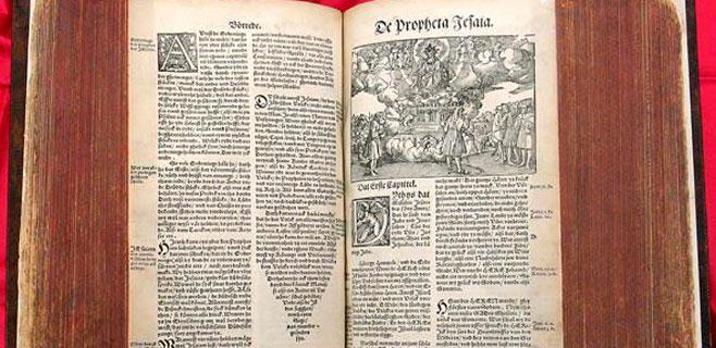 Hallado un ejemplar de la Biblia de Lutero de 1634