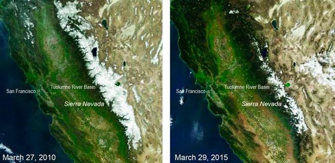 California tiene la menor reserva de nieve en 500 años