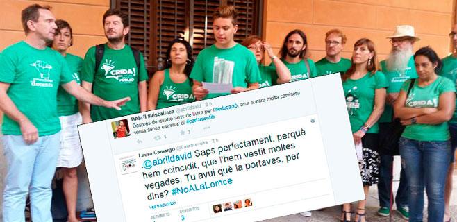 Reproches en el seno del Pacte por el uso de las 'camisetas verdes'
