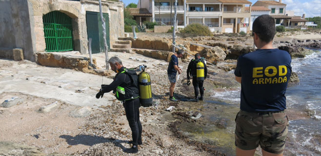 Neutralizada una granada de mortero con carga en Es Freu de Ses Covetes