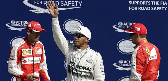 Hamilton suma su séptima pole consecutiva en Monza