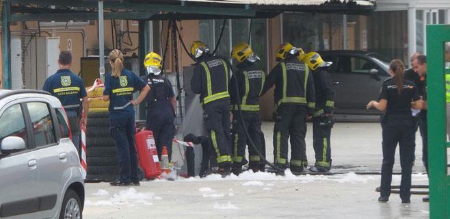 Un herido por quemaduras en una explosión en un rent a car de Palma