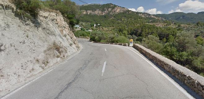 Hallado un hombre de 50 años muerto en la carretera Estellencs-Banyalbufar