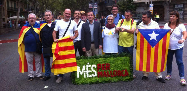 La delegación de Més, presente en la Diada de Catalunya