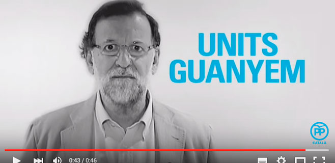 Rajoy habla catalán