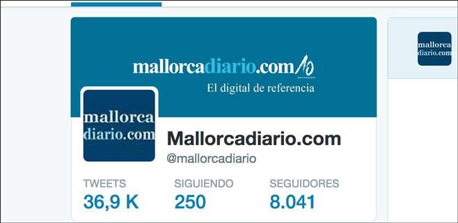 mallorcadiario.com supera los 8.000 seguidores en Twitter