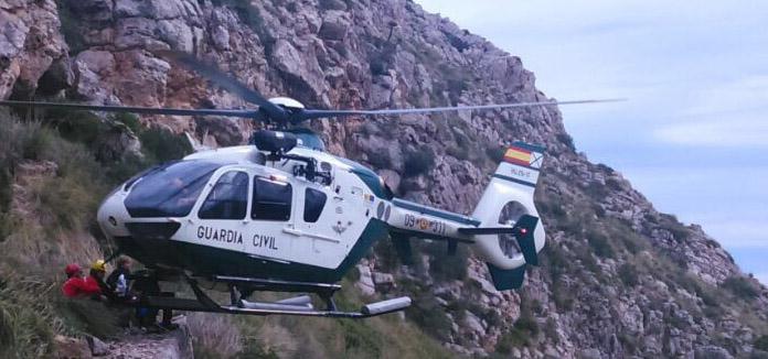 Rescatado un menor en Formentor por el helicóptero de la Guardia Civil