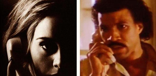 Adele le cuelga el teléfono a Lionel Richie