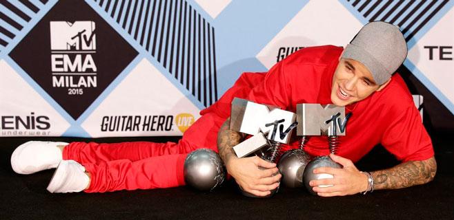 Justin Bieber triunfa en la gala de los MTV Europa
