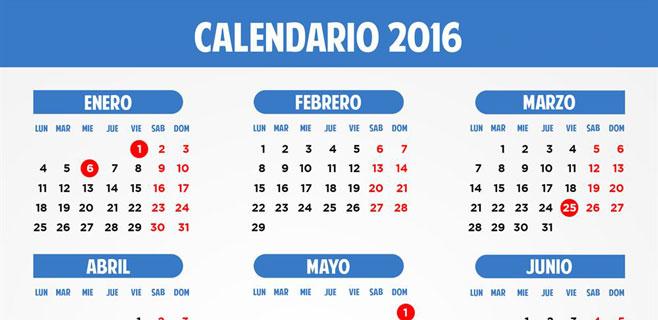 8 días festivos para 2016 en toda España