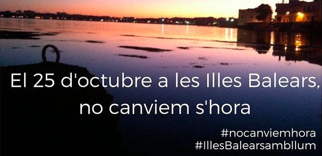 La campaña para que Balears no cambie la hora supera las 6.000 firmas