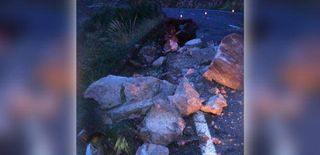 Reabre la carretera Andratx-Estellencs estará tras los desprendimientos