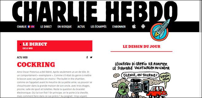 Charlie Hebdo reactiva su página web