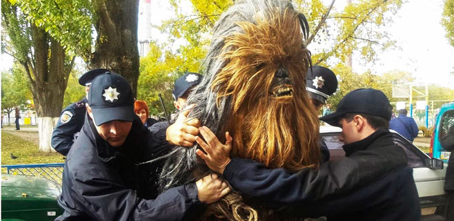 Chewbacca, detenido en Ucrania