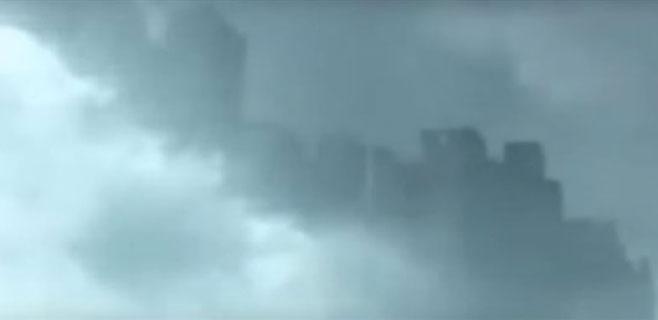 Aparece una misteriosa ciudad flotante entre las nubes