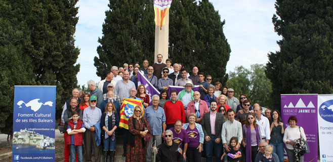 70 personas homenajean al Rei Jaume III