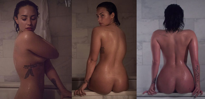Demi Lovato posa desnuda y sin Photoshop