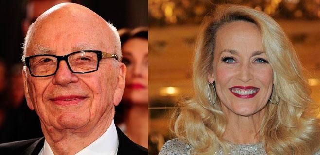 Romance confirmado entre Rupert Murdoch y Jerry Hall