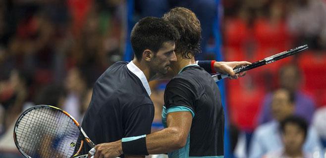 Nadal pierde ante Djokovic en una exhibición en Bangkok