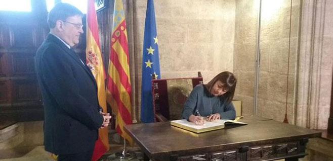 Armengol busca acuerdos estratégicos con la Generalitat Valenciana