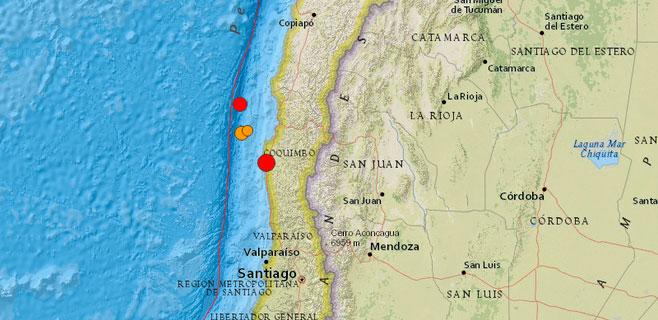 Un terremoto de 6,8 azota Chile y otro de 5,1 Venezuela