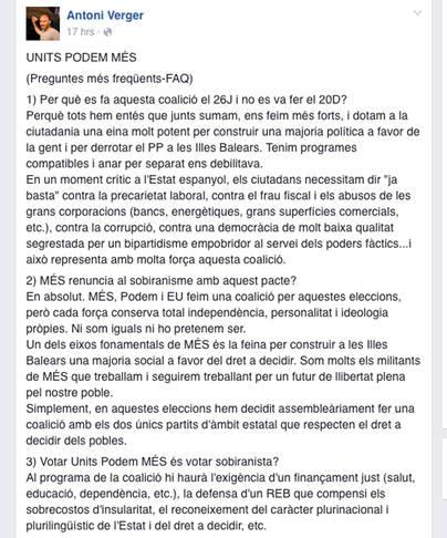 El PSM asegura que las obras de Ses Fontanelles no tienen autorización