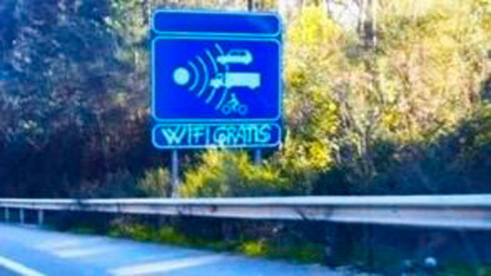 Carreteras con wifi gratis